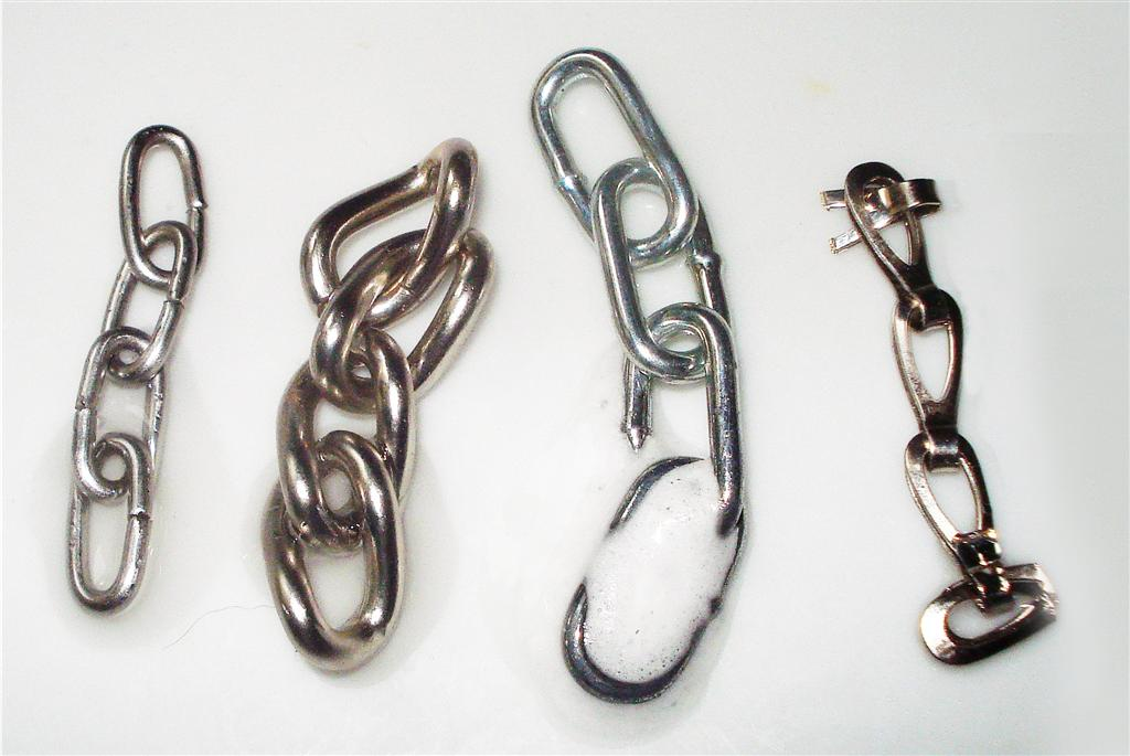 Zinc test: Stainles steel, chrome, nickel, zink plated material